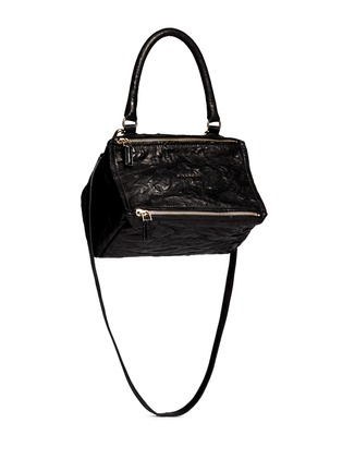 Front View - Click To Enlarge - Givenchy - 'Pandora' small crinkle leather bag