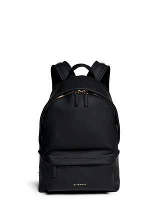 Main View - Click To Enlarge - Givenchy - Rubberised leather backpack