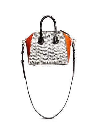 Back View - Click To Enlarge - Givenchy - 'Antigona' mini snakeskin bag