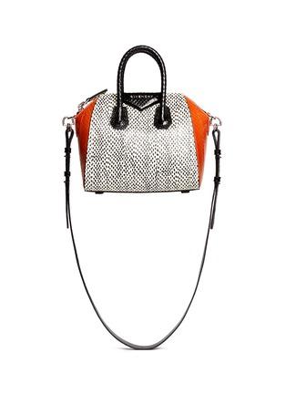 Main View - Click To Enlarge - Givenchy - 'Antigona' mini snakeskin bag