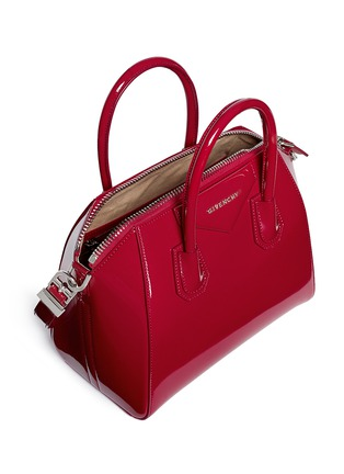 Detail View - Click To Enlarge - Givenchy - 'Antigona' small patent leather bag