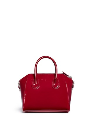 Back View - Click To Enlarge - Givenchy - 'Antigona' small patent leather bag