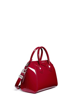 Figure View - Click To Enlarge - Givenchy - 'Antigona' small patent leather bag