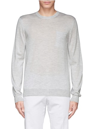 首图 - 点击放大 - FAÇONNABLE - Pocket silk-cashmere sweater