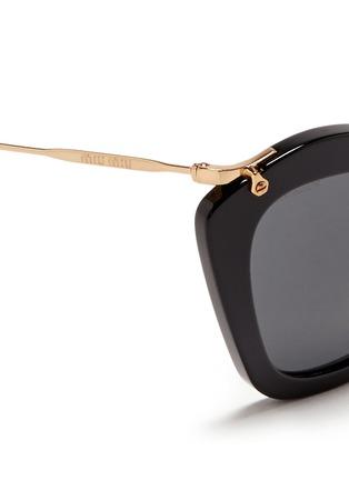 Detail View - Click To Enlarge - miu miu - 'Noir' cat eye acetate sunglasses