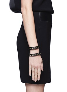 VALENTINO Rockstud cut-out leather bracelet