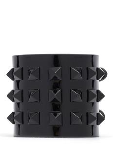 VALENTINORockstud wide patent leather bracelet