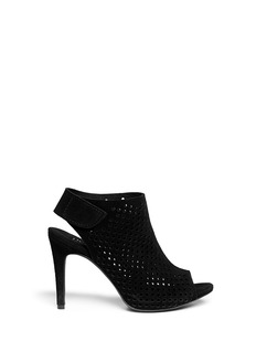 PEDRO GARCÍA 'Sofia' perforated suede sandal booties
