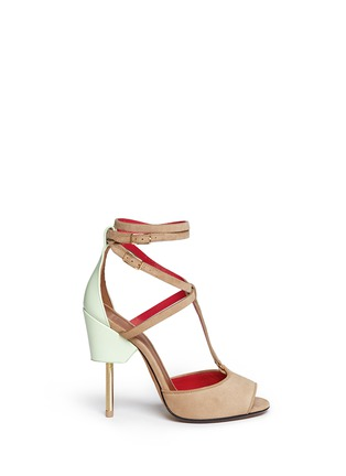 Main View - Click To Enlarge - Givenchy - 'Marzia' metal stiletto suede sandals