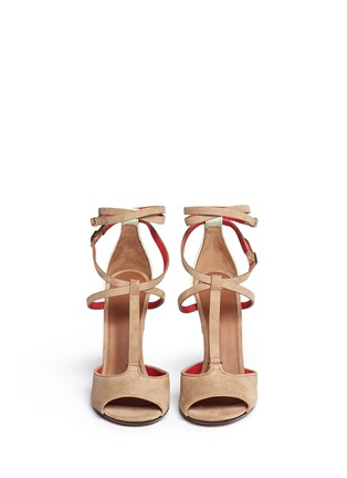 Figure View - Click To Enlarge - Givenchy - 'Marzia' metal stiletto suede sandals