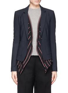 ELIZABETH AND JAMES'Glenn' detachable pinstripe underlay blazer