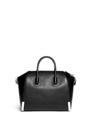 Back View - Click To Enlarge - Givenchy - 'Antigona' medium leather bag