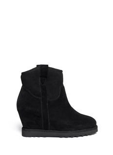 ASH'Yakoo' suede shearling wedge boots