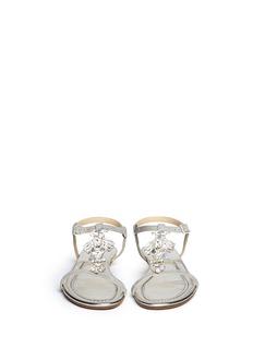 JIMMY CHOO'Night' jewel suede sandals