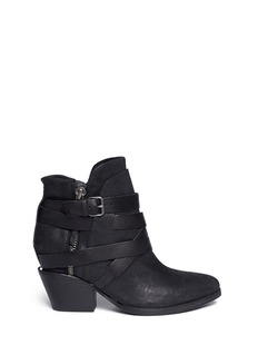 ASH'Manathan' brushed leather ankle boots