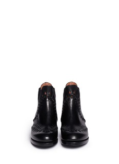 AZZEDINE ALAÏABraid cut-out leather Chelsea boots