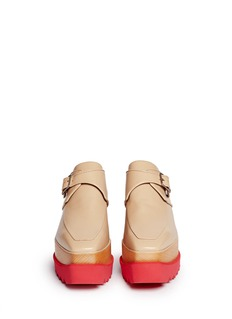 STELLA MCCARTNEY 'Felik' faux leather wood platform derbies