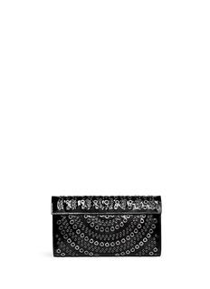 AZZEDINE ALAÏAGrommet leather flap clutch