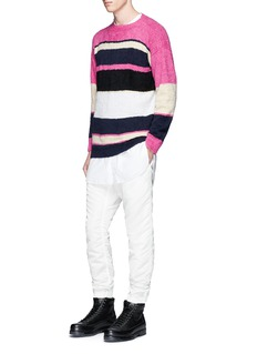 SacaiStripe cotton sweater