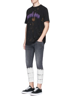 Palm AngelsDyed stripe cropped skinny jeans