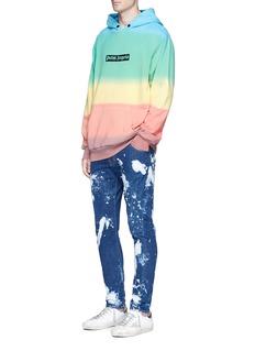 Palm AngelsRainbow tie dye cotton hoodie