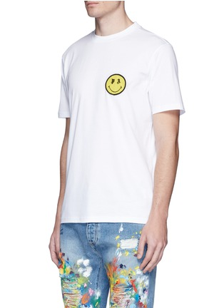 Front View - Click To Enlarge - Palm Angels - x Smiley® logo patch cotton T-shirt