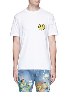 Palm Angels x Smiley® logo patch cotton T-shirt