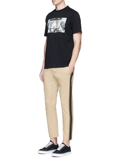 Palm Angels Ribbed side trim pants