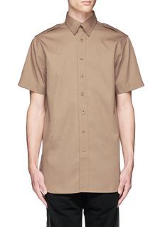 Palm Angels'College Safari' print twill shirt