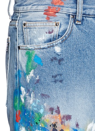 Detail View - Click To Enlarge - Palm Angels - Splatter paint distressed jeans