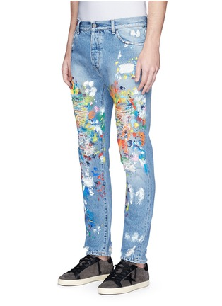 Front View - Click To Enlarge - Palm Angels - Splatter paint distressed jeans