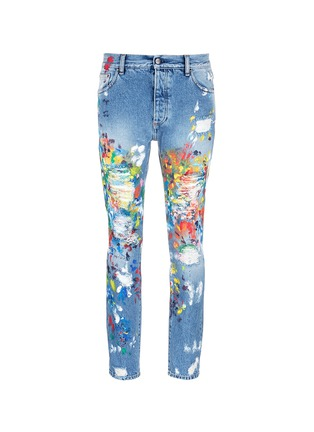 Main View - Click To Enlarge - Palm Angels - Splatter paint distressed jeans