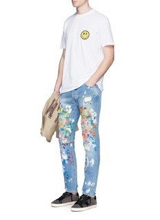 Palm Angels Splatter paint distressed jeans