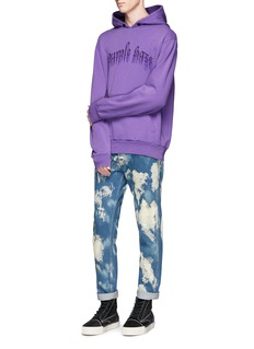 Palm Angels'Purple Haze' embossed print hoodie