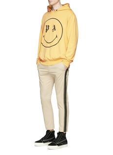 Palm Angelsx Smiley® logo print cotton hoodie
