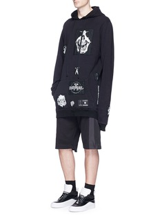 Ben Taverniti Unravel Project Skull appliqué hoodie