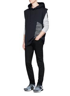 Public School'Aderman' text print sleeveless hoodie
