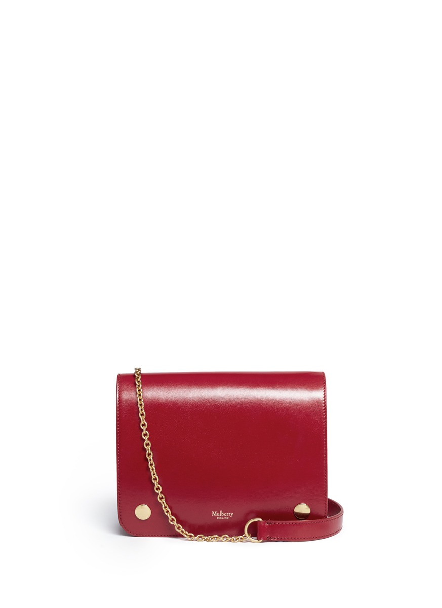 Clifton small grainy leather chain crossbody bag by Mulberry