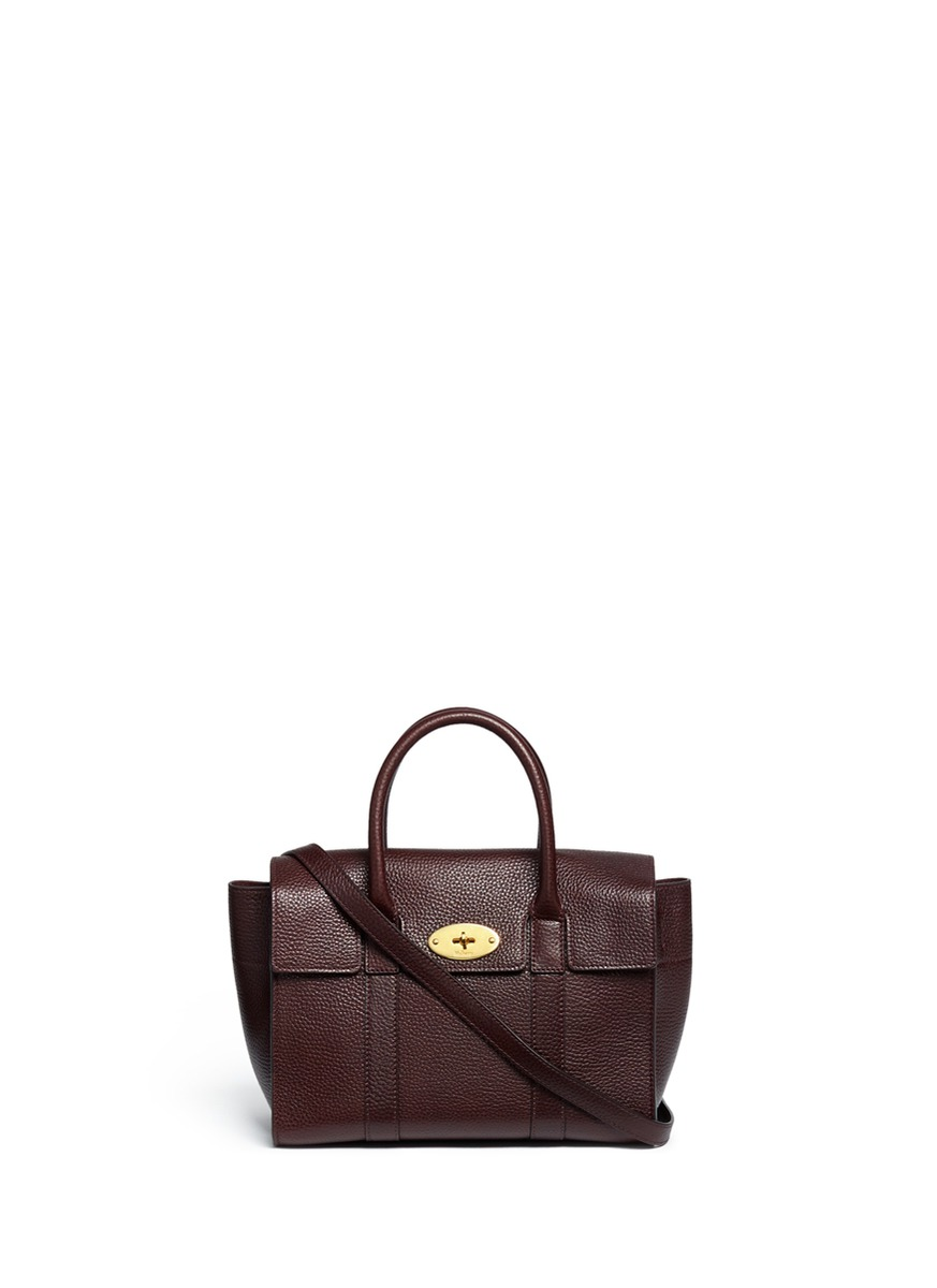 New Bayswater small grainy leather tote by Mulberry