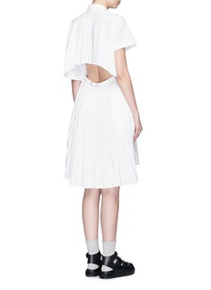 SACAI Open back pleat skirt poplin shirt dress