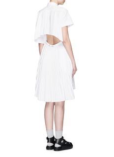 SACAIOpen back pleat skirt poplin shirt dress