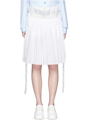 Main View - Click To Enlarge - Sacai - Paperbag waist pleat poplin long shorts