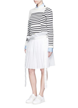 Figure View - Click To Enlarge - Sacai - Paperbag waist pleat poplin long shorts