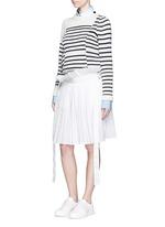 Paperbag waist pleat poplin long shorts