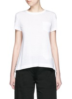Bandana print pleat back linen T-shirt