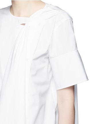 Detail View - Click To Enlarge - Ports 1961 - Neck sash drape poplin shirt