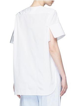 Back View - Click To Enlarge - Ports 1961 - Neck sash drape poplin shirt