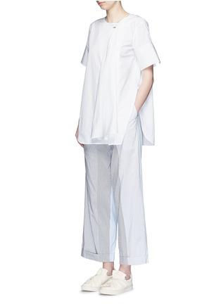 Figure View - Click To Enlarge - Ports 1961 - Neck sash drape poplin shirt