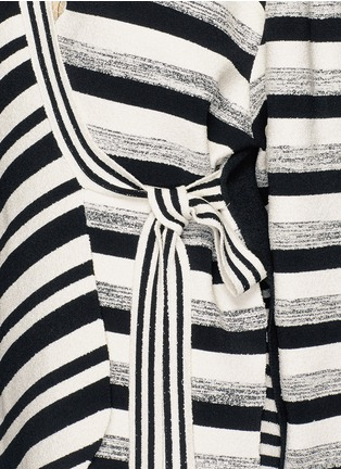 Detail View - Click To Enlarge - Ports 1961 - Variegated stripe silk blend knit sash tie jacket
