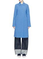 Cotton-linen-cupro sash coat